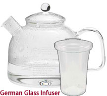 German Glass Water Kettle 7.5 Cup