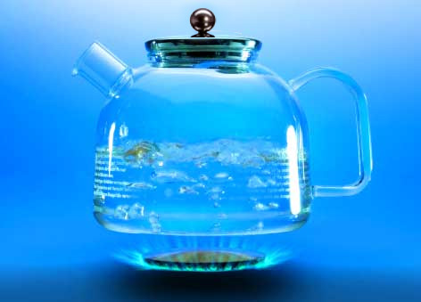German Glass Kettle