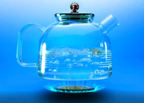 German Glass  Stove-Top Water Kettle